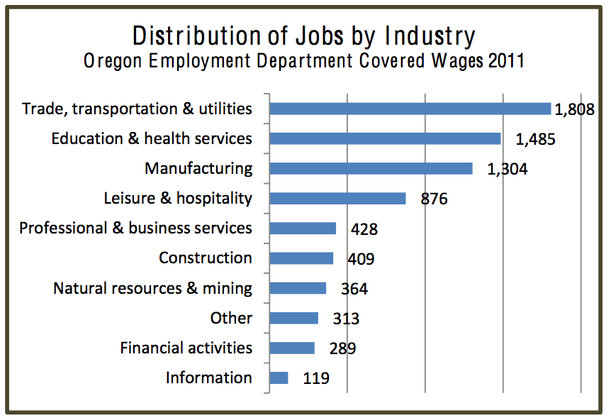 Union County Distribution of Jobs by Industry